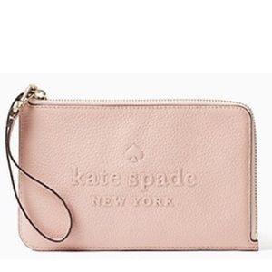 Kate Spade Med Sienne Wristlet Rosy Cheeks•NWT